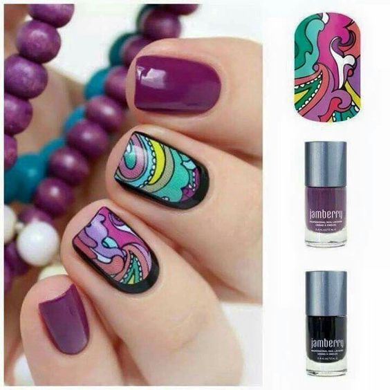 Wrap too small for your fingers? That's okay! Put some gel or lacquer underneath. - Love this idea!! #JamsByColey #Jamberry #BeCreative #BeYou #nailart #nailwraps #nailstickers #polish #lacquer #gelnails #manicure