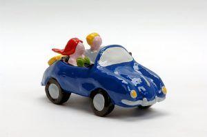 porsche 356 blue voorkant