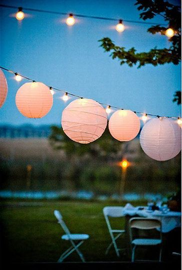 i would use white christmas lights and lanterns