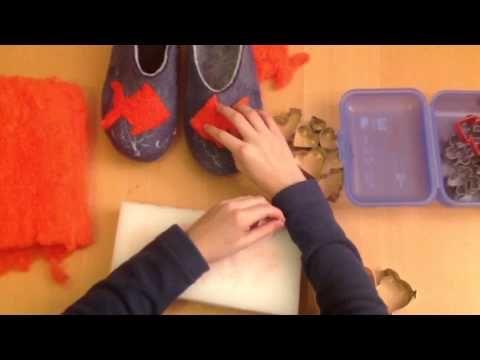 Vilten pantoffels - Vulling picture *** - YouTube
