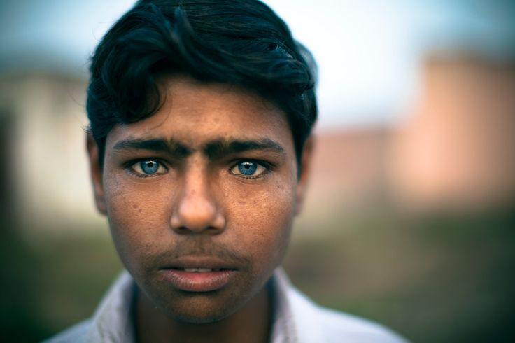 Indian Boy With Beautiful Blue Eyes Photo By Mike Matas