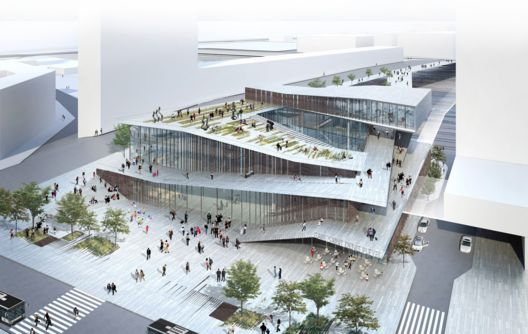 Kengo Kuma Wins Competition to Design Metro Station in Paris,© Kengo Kuma & Associates