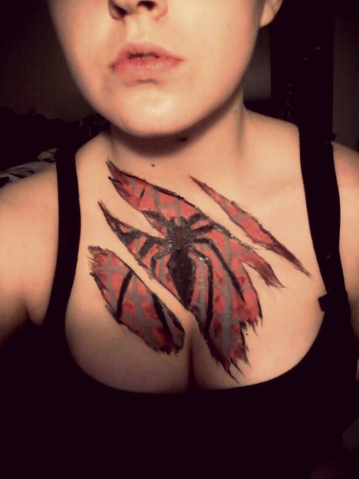 Spiderman Chest Paint. by ~Onii-Jurai on deviantART