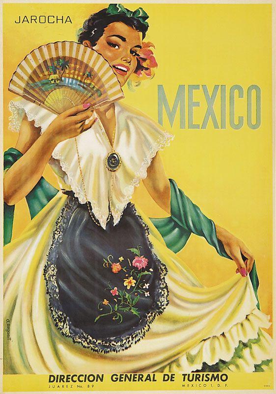 Mexico #tourism #poster (1958)