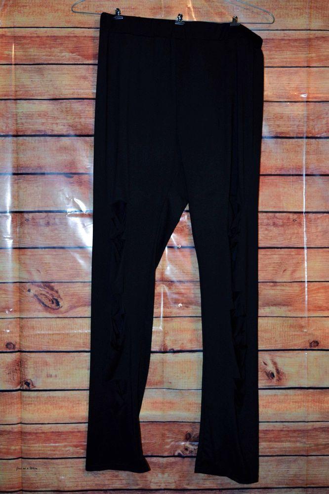 d9314d9cf7bdc Pants Plus Ladder Ripped Leggings