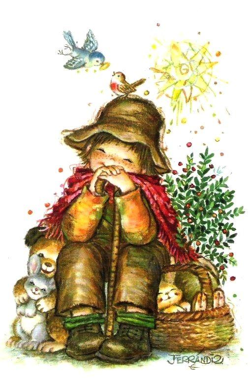 Christmas Illustration by Juan Ferrandiz (y Más ------> Licena Hill: Las Mejores Galerías de Anime, DigitalArts)