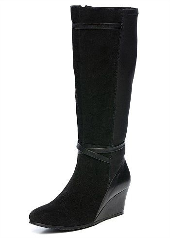 Sharon Knee High Boot #plussize #takingshape #widefitting