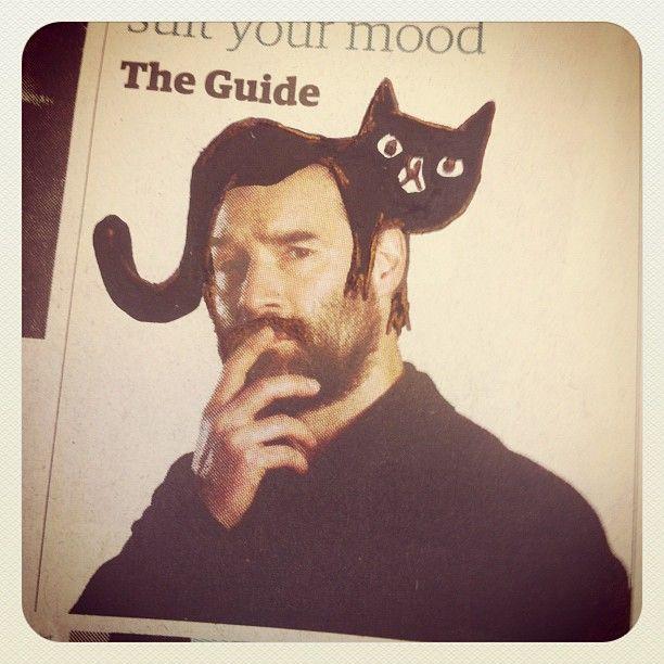 Adam Buxton - cat hair: Illustration