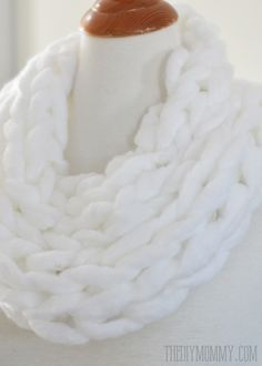 DIY Arm Knit Scarf Video Tutorial
