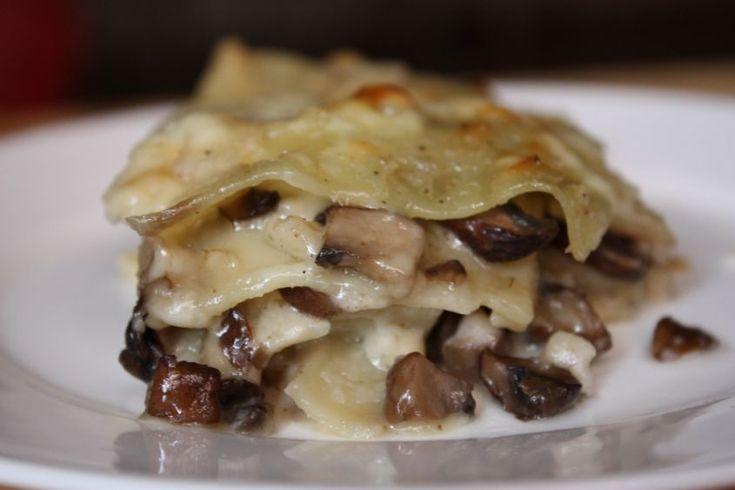 lasagne con formaggio e funghi