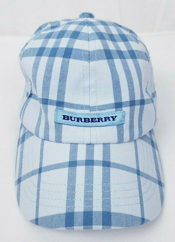 a0ffbbc6c Burberry London Nova Check Baseball Hat Cap Adjustable Made in ...