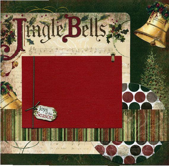 Jingle Bells christmas scrapbook page