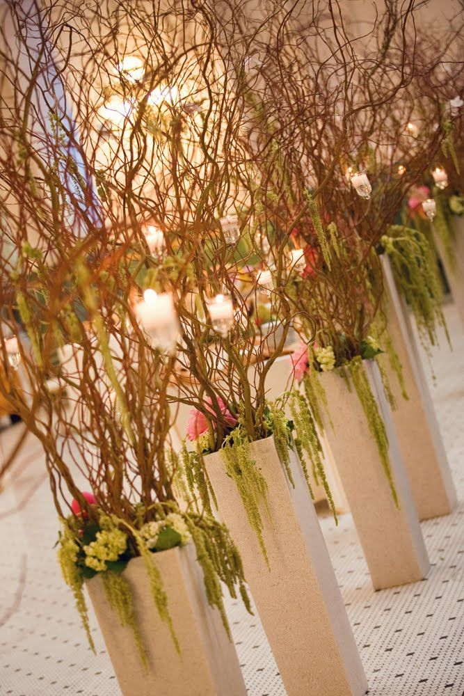 Ceremony idea- we can use only 8. 4 on each side of the aisle.
