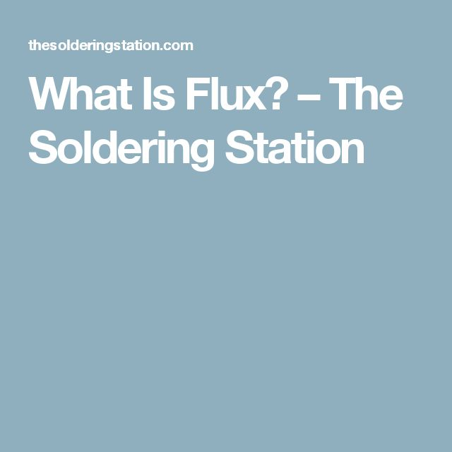 What Is Flux? Flux is an important part of soldering and helps reduce oxidation. Soldering flux for electronics goes by a variety of names such as solder flux, rosin flux or rosin soldering flux. There is also a water soluble flux that you could use, but be sure not to use plumbing flux as that is different. The Soldering Station