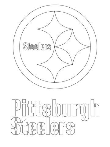 Pittsburgh Steelers Logo coloring page from NFL category. Select from 21913 printable crafts of cartoons, nature, animals, Bible and many more.