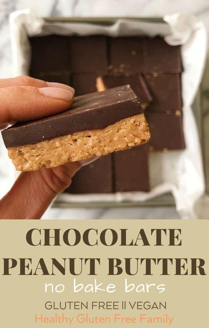 Chocolate Peanut Butter No Bake Bars
