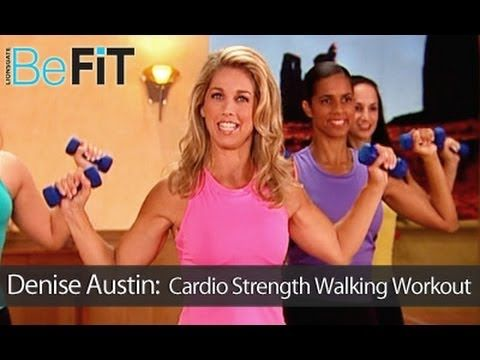 Denise Austin: Cardio Strength Walking Workout is a robust, total body-toning cardio workout that combines aerobic power walking exercise with strength training techniques to provide the ultimate fat-burning, muscle-sculpting experience. Get ready to sweat with Fitness Legend, Denise Austin as she takes you through this vigorous routine that is ...