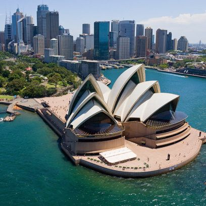 Sydney Opera House- Master English before you head to the land down under.