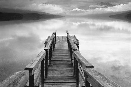 Dock: Gary Faye, Photos, White Photography, Black And White, Wall Murals, Art Prints, Poster, Bridges, Infinity