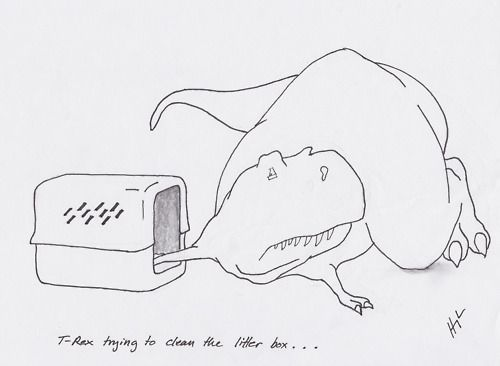 T-Rex Trying....a ton of hilarious pictures showing the struggles of a T-rex