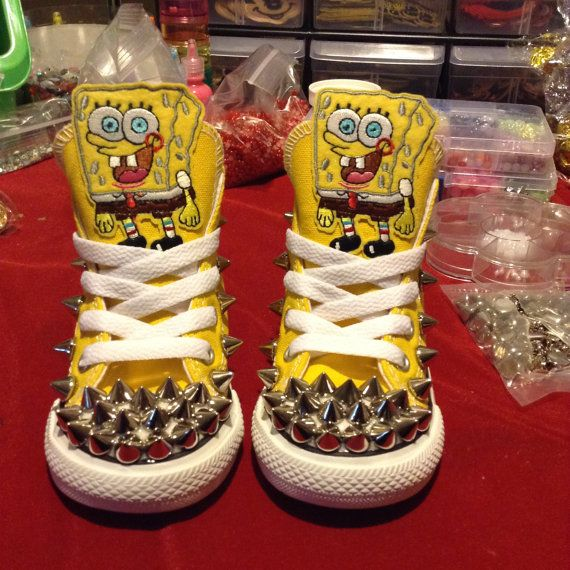 The Perfect Shoe For A Spongebob Lover! Treat Them To The Kraziest Shoe In Town! No Two Pair Are Exactly The Same. *Disclaimer* Items are novelty items. Non toxic glue for the safety of our clients. All of the rhinestones, pearls or crystals placed on our items are glued by hand and are secured well but we cannot guarantee that any of the jewels will not come off. We recommend that our items be used with adult supervision and that if you see your child picking at or chewing on the jewels to…