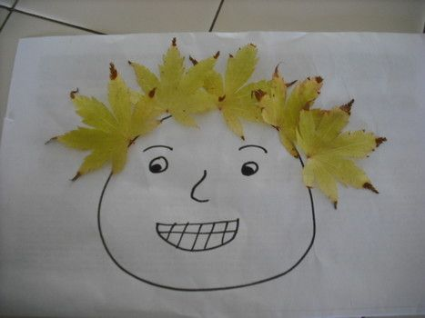 Pictures - Leaf people preschool activity: