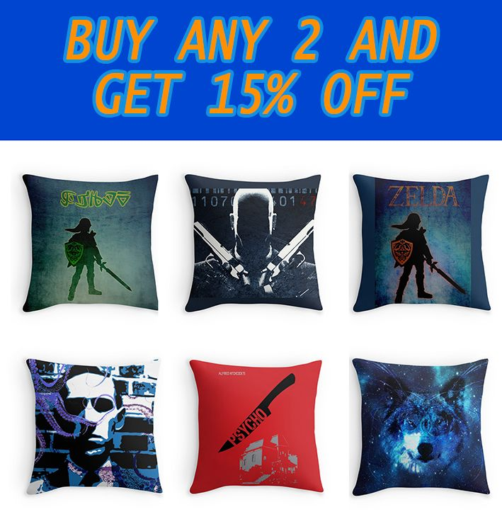 Throw Pillows by scardesign11 | Redbubble #gaming  #pillows #movies #space #hitman #psychomovie #cinema #gifts #gaming #games #gamer #gamergifts #geek #nerd #geekgifts #zeldabedroom #legendofzelda #gamesgifts #giftsforhim #giftsforher #onlineshopping #redbubble #homedecor #mancave #gamersroom #gamersroompillows #throwpillows #gamingpillows #livingroom #bedroom #moviespillows  #buygameduvetcover #legendofzeldaduvetcover #gamingduvet #homegifts #lovecraft  #triforce #link #warrior #nintendo