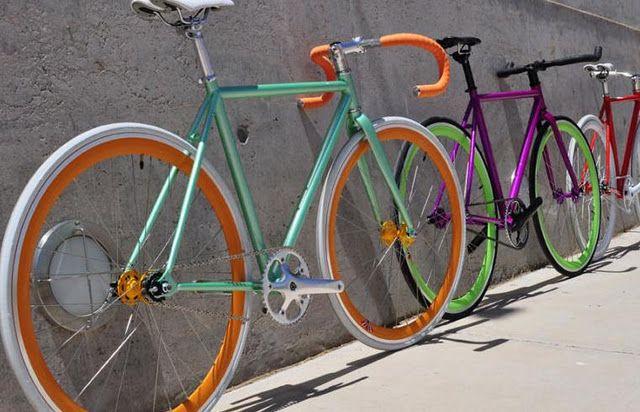 colorful bikes...