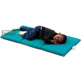 Children s Factory CF400-524TB Teal- Blue 3 Section 1 in. Thick Infection Control Mat- 10 Pack