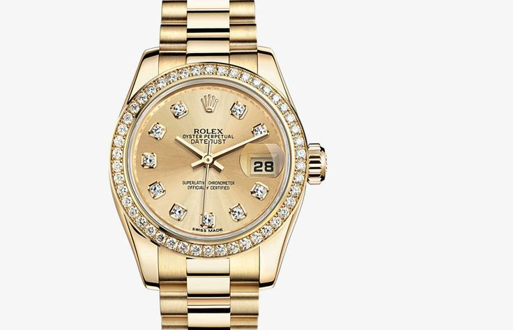 s rolex datejust oyster 26 mm yellow