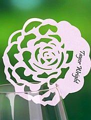 lieu cartes et les détenteurs thème floral carte d'endroit - un ensemble de 12 (plus de couleurs)