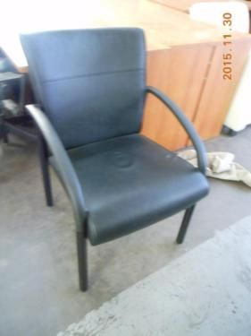 Black leather guest chairs just came in today. We only have 4 of these great
