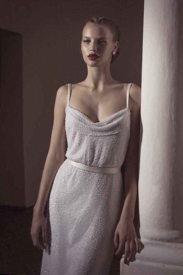 subtly sparkly wedding dress