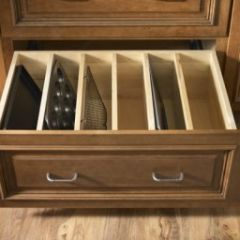 If only I had something like this, maybe I would bake more and swear less. Baking pan storage
