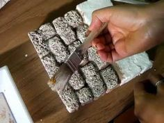 ▶ IMITACION DE PARED DE PIEDRA, BELENES - YouTube