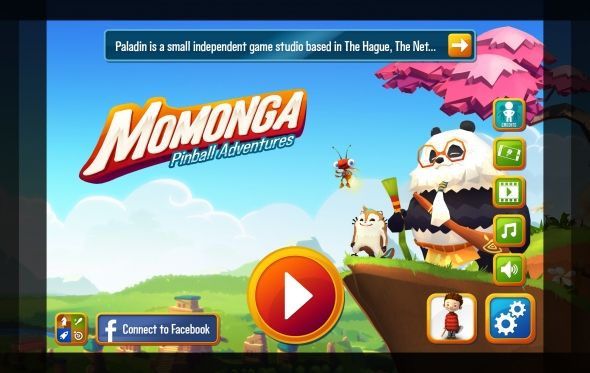 The new Startscreen of Momonga Pinball Adventures