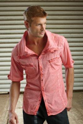 Weaver Pink Acid Shirt - XXL, Light Pink Men's Shirts from UnderGear