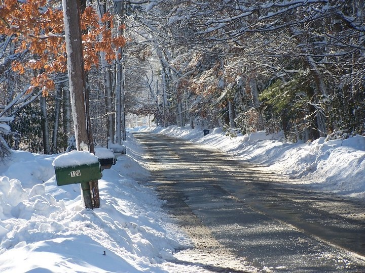 My street, Easton, Massachusetts