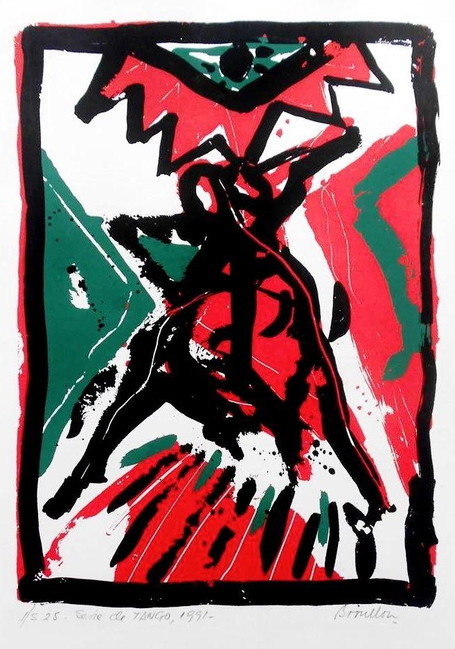 Serigrafía TANGO (1991) Roberto Broullon
