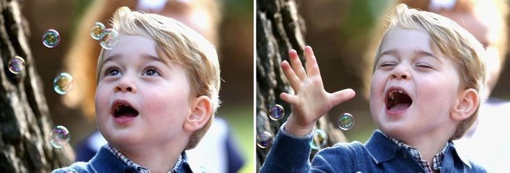 Маленький принц Это принц Джордж. У него был хороший год. Он учится приветствовать людей. Очаровательный ребенок!