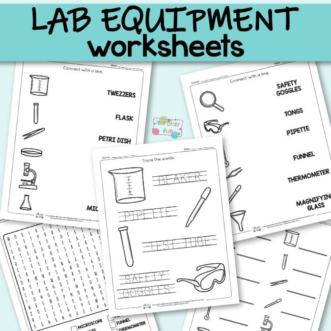 Lab Equipment Worksheets Co Op Ideas Science