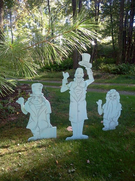 disney haunted mansion lawn decorations hitch hiking ghost by cancreate - Halloween Ghost Decorations Outside