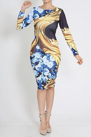 Diva's Ego Boutique - Abstract Print Bandage Cocktail Dress  #clubwear #irockdivasegoboutique #bandagedress #cocktaildress #fashiondress #abstractprint #trendyfashion #Womencollection #divasegoboutique  #bodycondresses