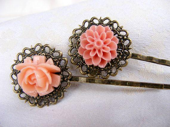 Mother daySalmon peach orangeresin flower by artemisartdesign, $9.00