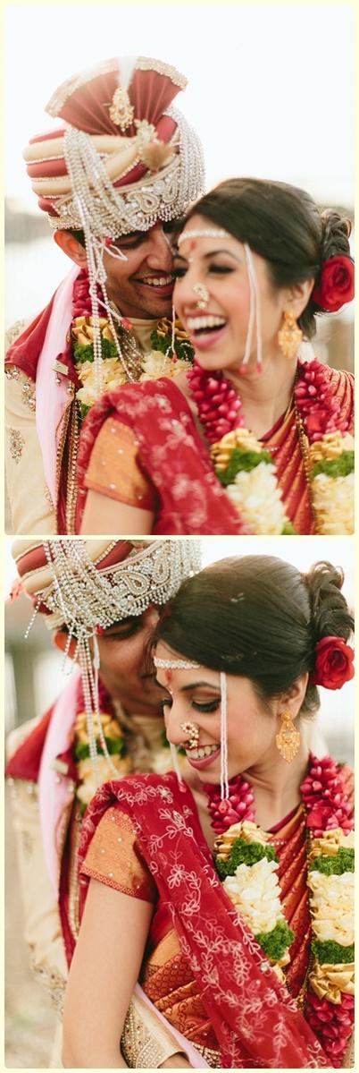 Marathi wedding: Candid Photography Indian Bride and Groom at their #IndianWedding. #YunaWeddings