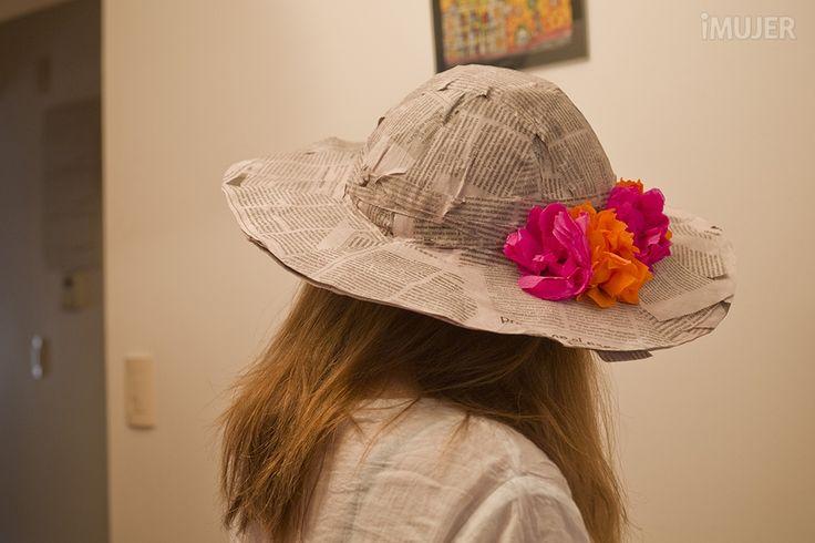 Cómo hacer un sombrero de papel maché | papier mache | Pinterest ...