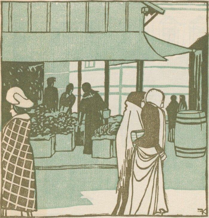 F. König, Südfrüchte-Händlerinnen v. Wiener Naschmarkt, Ver Sacrum, Volume 1, Number 11, 1 June 1903