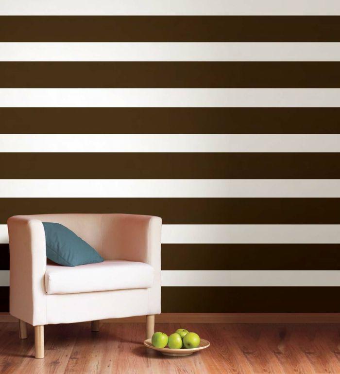 Die 25+ Besten Ideen Zu Wandgestaltung Streifen Auf Pinterest ... Farbgestaltung Bei Schrgen
