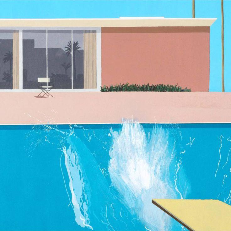 """Inspiración #Inspiración """"A Bigger Splash"""" (1967) David Hockney."""