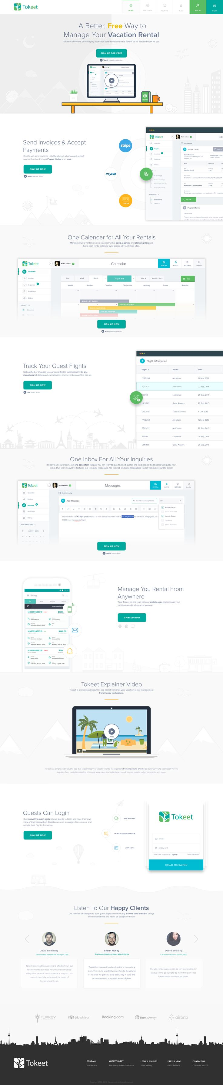 Vacation rental management   landing page   full